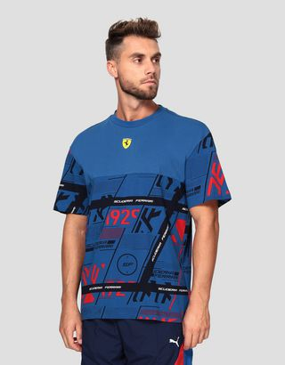 Scuderia Ferrari Online Store - Puma Scuderia Ferrari men's t-shirt with graphic print - Short Sleeve T-Shirts