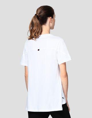 Scuderia Ferrari Online Store - Scuderia Ferrari Puma women's T-shirt with Ferrari Shield - Short Sleeve T-Shirts