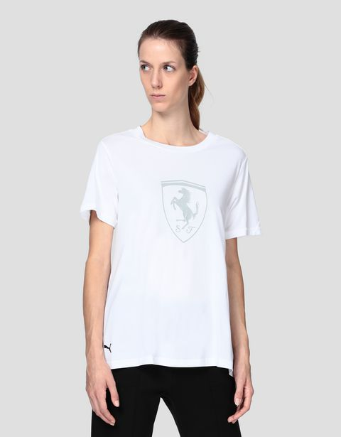 Scuderia Ferrari Puma women's T-shirt with Ferrari Shield