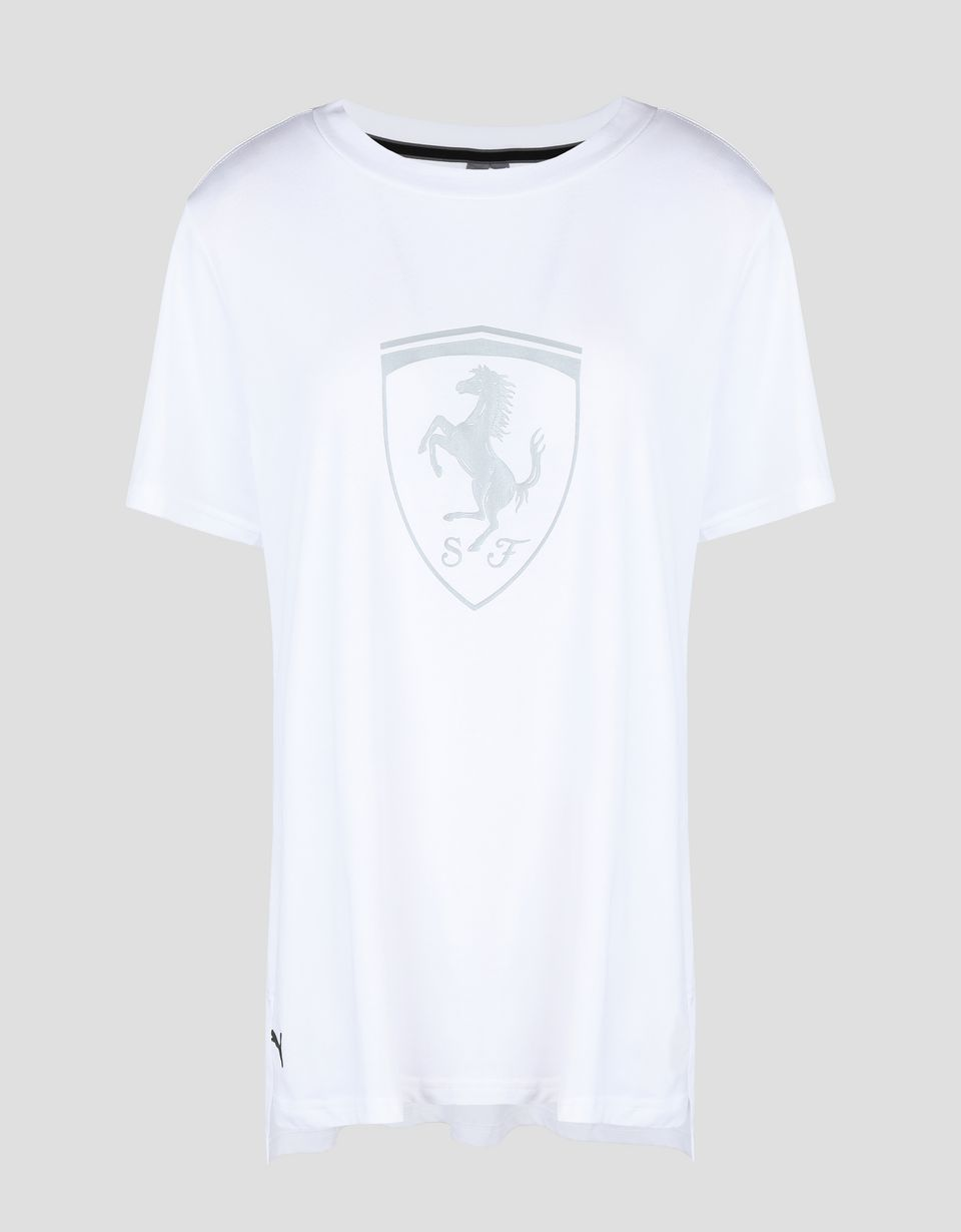 Scuderia Ferrari Online Store - Puma women's t-shirt with Ferrari Shield - Short Sleeve T-Shirts