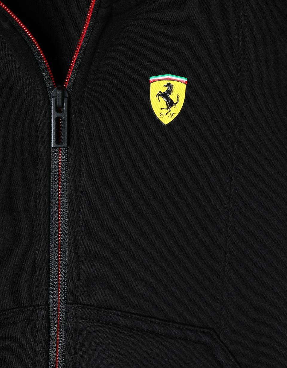 Scuderia Ferrari Online Store - Scuderia Ferrari Puma hooded sweatshirt for boys - Zip Hood Jumpers