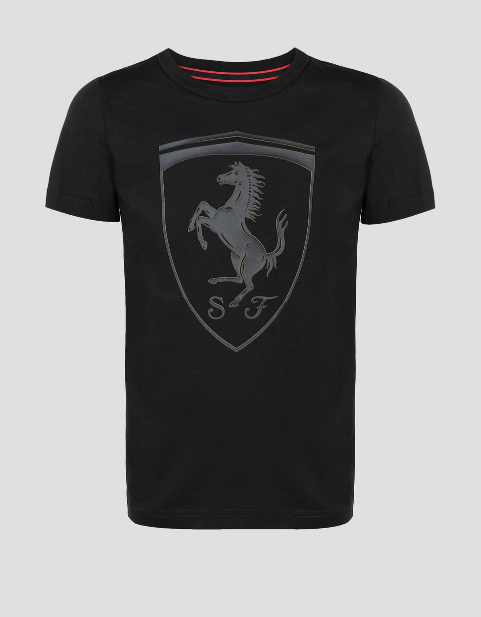 Scuderia Ferrari Online Store - Puma kids t-shirt with Ferrari Shield - Short Sleeve T-Shirts