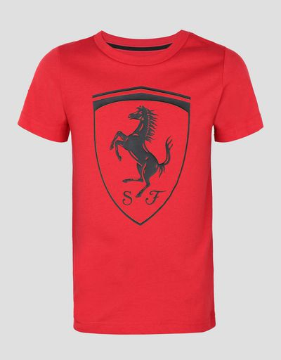 Puma kids t-shirt with Ferrari Shield