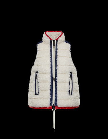 PADDED GILET Ivory Grenoble Knitwear Woman