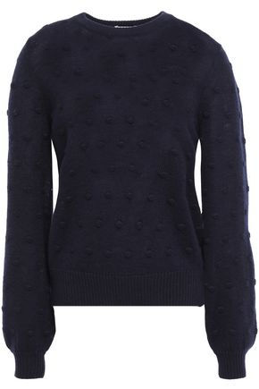 BAUM UND PFERDGARTEN Chaine embroidered mélange wool-blend sweater