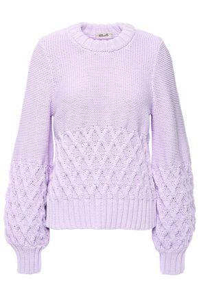 BAUM UND PFERDGARTEN Two-tone cotton-blend sweater