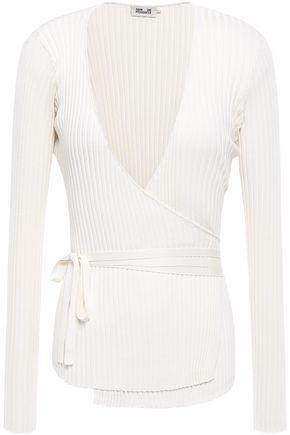BAUM UND PFERDGARTEN Ribbed silk wrap sweater