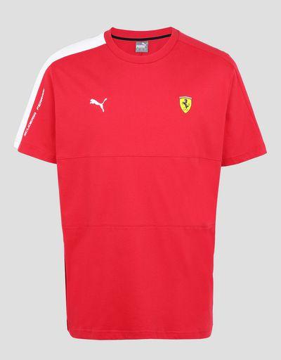 Scuderia Ferrari Online Store - Puma Scuderia Ferrari T7 men's t-shirt - Short Sleeve T-Shirts