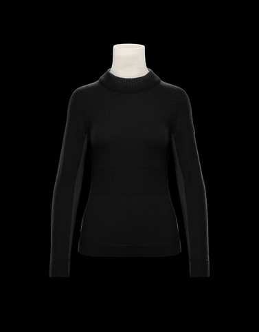 HIGH NECK SWEATER Black Grenoble Knitwear