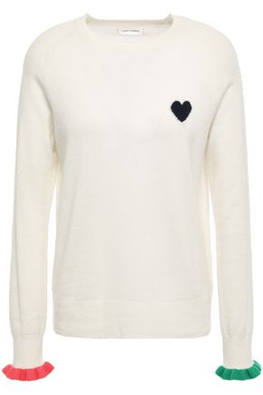 CHINTI AND PARKER Ruffle-trimmed intarsia cashmere sweater