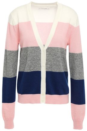 CHINTI AND PARKER Striped wool and cashmere-blend cardigan