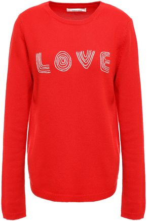 CHINTI & PARKER Embroidered wool and cashmere-blend sweater