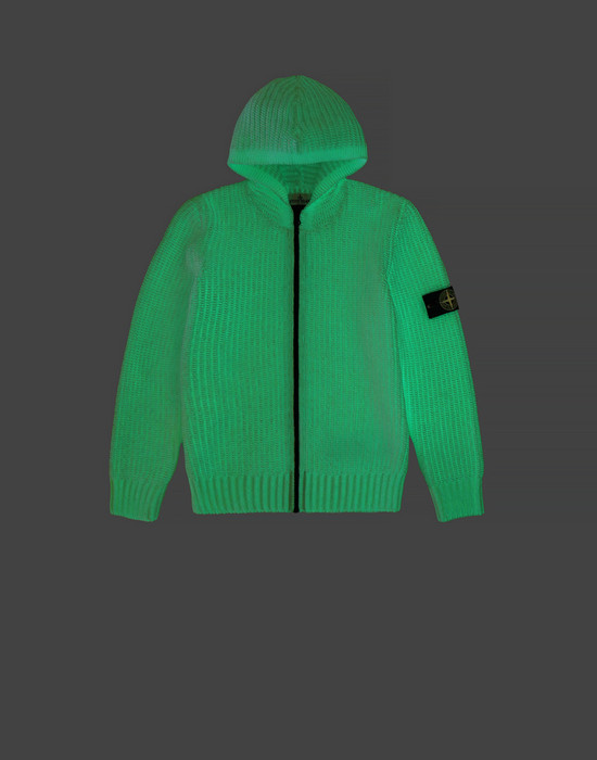 STONE ISLAND JUNIOR Jersey 519A5 GLOW IN THE DARK