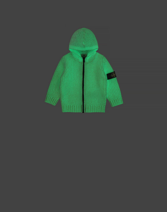 STONE ISLAND BABY 519A5 GLOW IN THE DARK  Sweater Man White