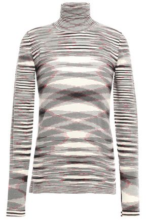 MISSONI Intarsia wool turtleneck sweater