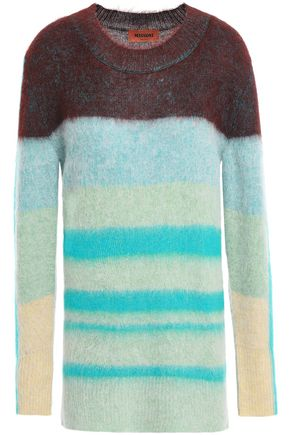 MISSONI Striped intarsia-knit sweater