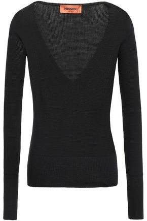 MISSONI Marled wool-blend top