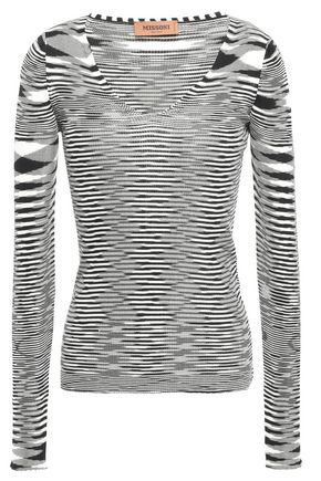 MISSONI Ribbed marled knitted top