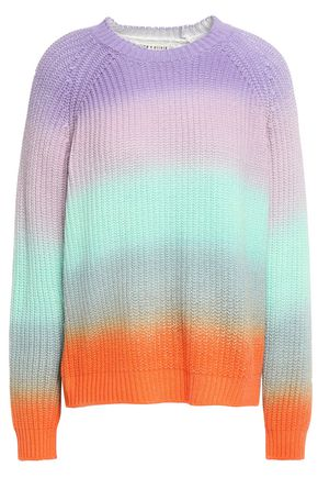 ALICE + OLIVIA Dona dégradé cotton-blend sweater