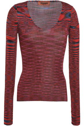 MISSONI Marled ribbed-knit top