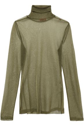 MISSONI Metallic knitted turtleneck top