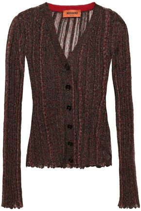 MISSONI Crochet-knit lamé cardigan