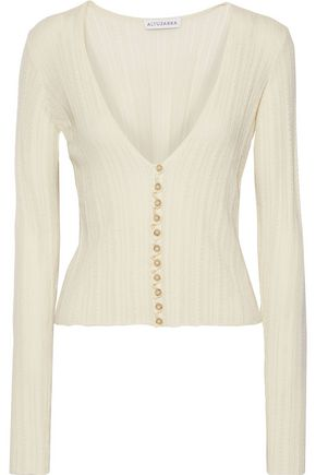 ALTUZARRA Piazza pointelle-knit wool and cashmere blend cardigan