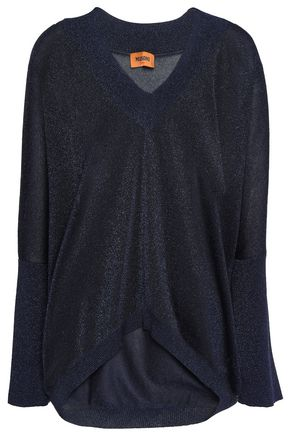 MISSONI Asymmetric metallic stretch-knit sweater