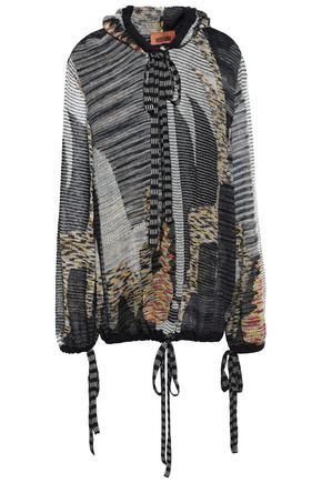 MISSONI Intarsia-knit hooded sweater