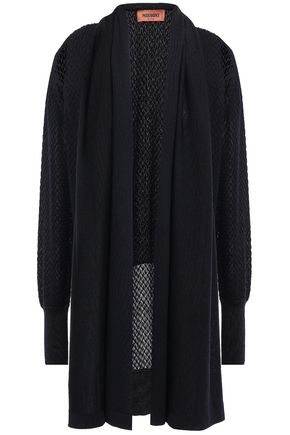 MISSONI Draped crocheted wool-blend cardigan