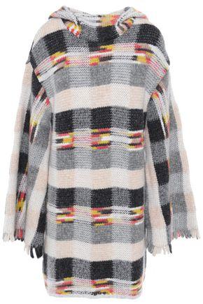 MISSONI Fringed intarsia-knit hooded sweater
