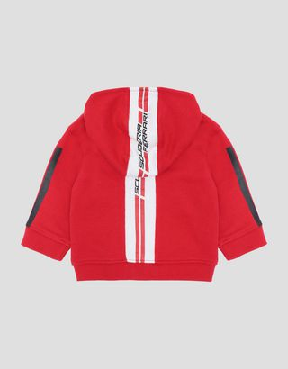 Scuderia Ferrari Online Store - Infants' track jacket with hood and zip - Zip Hood Jumpers