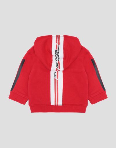 Infants' zipped hooded sweatshirt