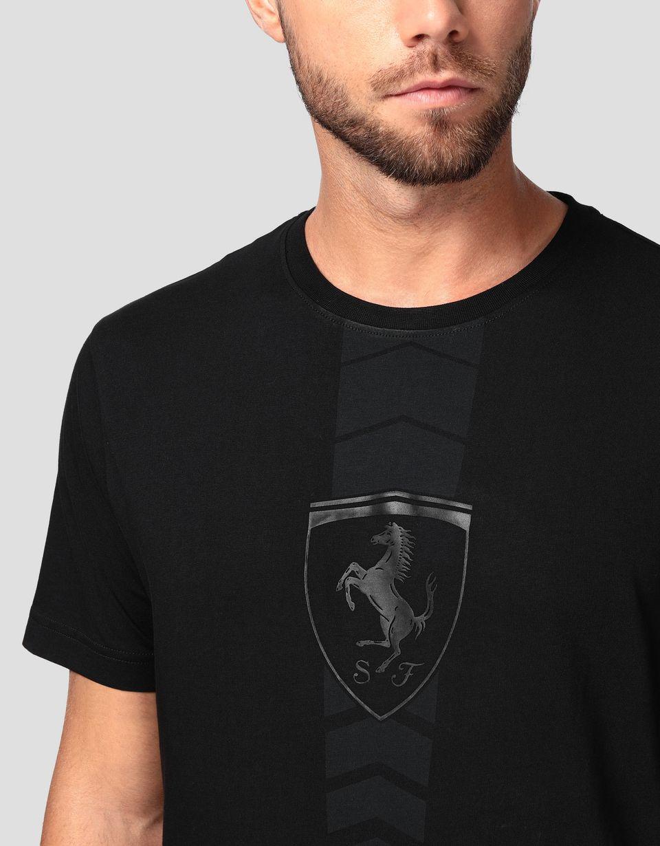 Scuderia Ferrari Online Store - Мужская хлопковая футболка с прорезиненным принтом - Футболки с короткими рукавами