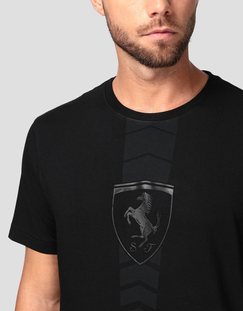 Scuderia Ferrari Online Store - Men's cotton T-shirt with rubberized print -