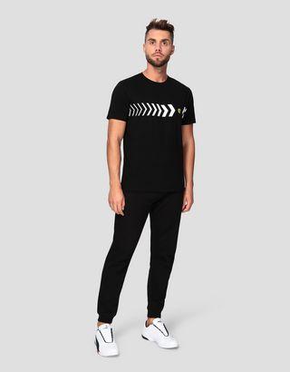 Scuderia Ferrari Online Store - Men's cotton T-shirt with print - Short Sleeve T-Shirts