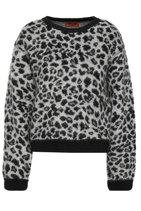 MISSONI Brushed leopard-jacquard sweater