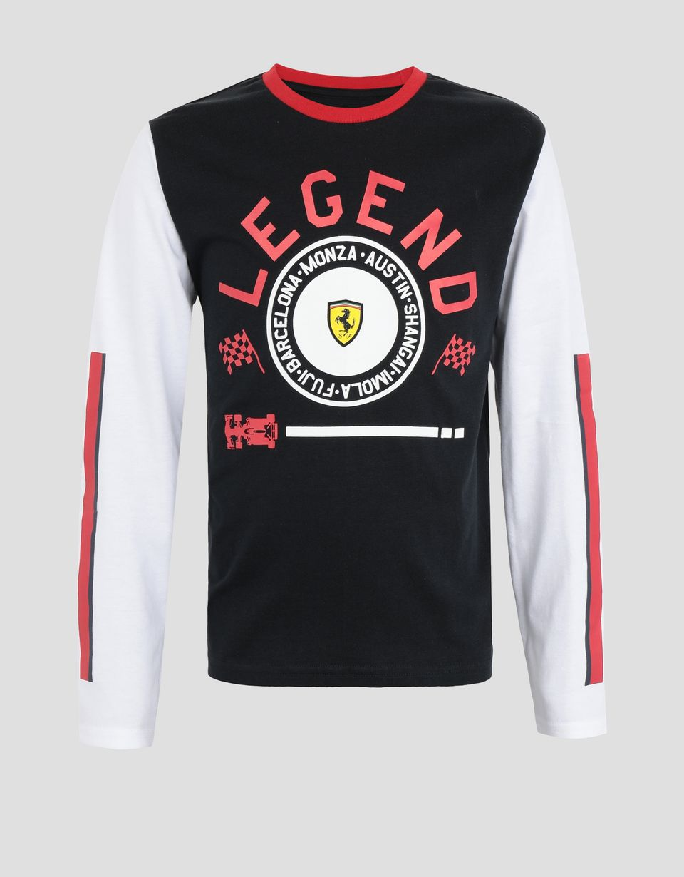 Scuderia Ferrari Online Store - 男童 LEGEND 印纹长袖 T 恤 - Long Sleeve T 恤
