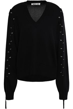 McQ Alexander McQueen Lace-up cotton sweater