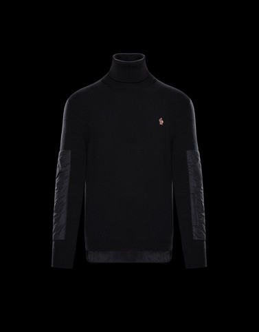 HIGH NECK Black Grenoble Knitwear Man