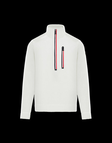 ZIPPED MOCK POLO NECK Ivory Sweatshirts