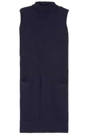 DEREK LAM Asymmetric wrap-effect cashmere turtleneck tunic