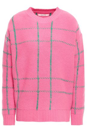CHINTI & PARKER Embroidered checked wool sweater