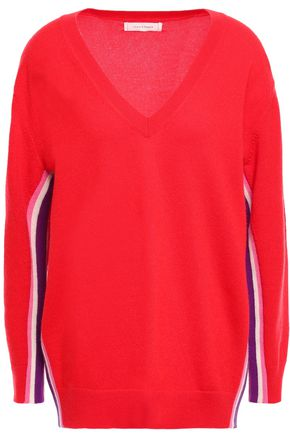 CHINTI & PARKER Striped intarsia cashmere and wool-blend sweater