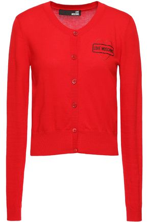 LOVE MOSCHINO Embellished cotton cardigan