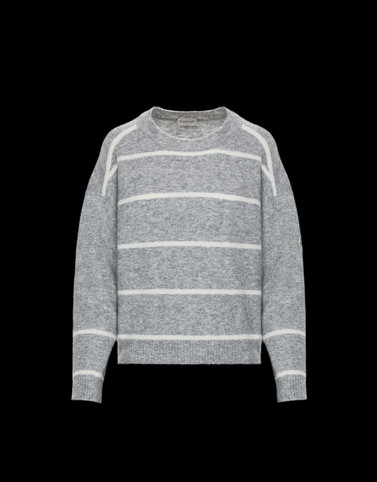 CREWNECK Light grey Knitwear Woman