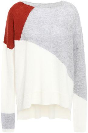 CHARLI Color-block cashmere sweater