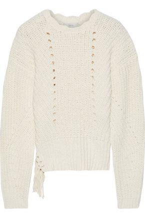 JOIE Taelar tasseled cotton-blend sweater