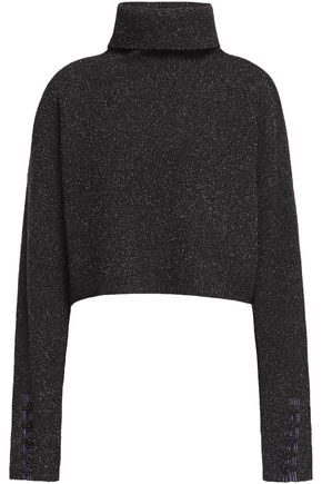 3.1 PHILLIP LIM Folk button-detailed bouclé-knit wool-blend turtleneck sweater
