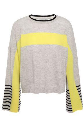 AUTUMN CASHMERE Color-block cashmere sweater